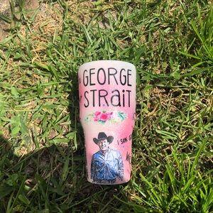 George Strait Glitter Tumbler 30oz style
